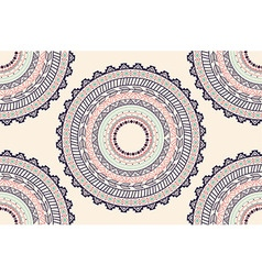 Ethnic Aztec circle ornament seamless pattern vector
