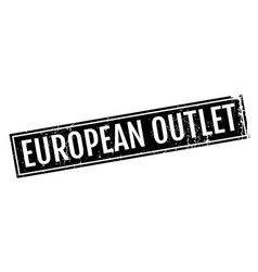 European outlet rubber stamp vector