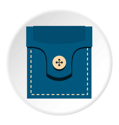 Fashion pocket for shirt icon circle vector