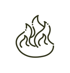 fire flame hot nature line design vector image