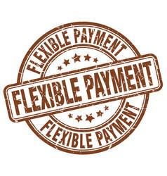 Flexible payment stamp vector