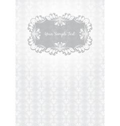 floral pattern frame template vector image