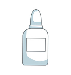 glue bottle utensil school tool icon vector image