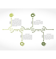 Green Timeline vector