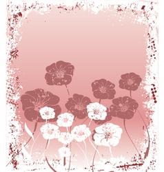 Grunge flowers vector