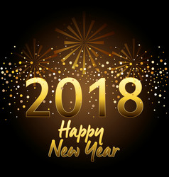 happy new year 2018 postcard vector image