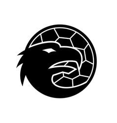 Head european eagle inside handball ball vector