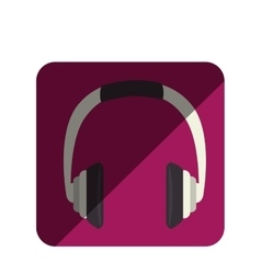 headphone device isolated icon vector image