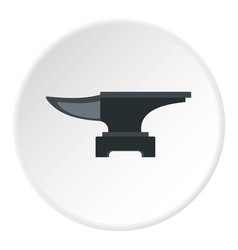heavy black metal anvil icon circle vector image