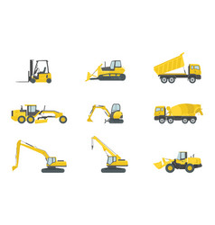 heavy truck construction set collections with vector image