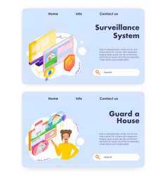 house protection and surveillance system home vector image