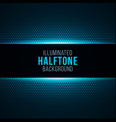 illuminated gradient background with halftone vector image