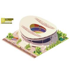 isometric stadium building vector image