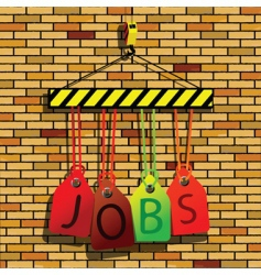 jobs under construction vector image