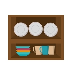 Kitchen furniture wooden vector