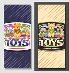 layouts for kids toys vector image