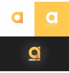 Letter logo design icon set background vector