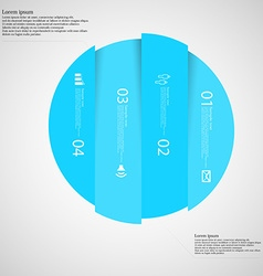 Light Circle template infographic vertically vector
