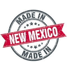 Made in new mexico red round vintage stamp vector
