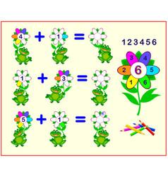 Math education for children count petals vector