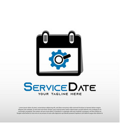 Mechanic logo with services date concept repair vector