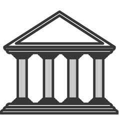 Monochrome color greek temple parthenon vector