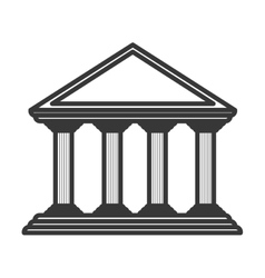 monochrome color of greek temple parthenon vector image