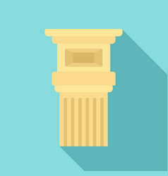 museum pillar icon flat style vector image