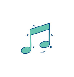 Music player audio icon vector
