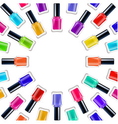 Nail polish frame vector
