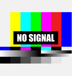 No signal tv test pattern television colored vector