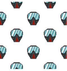 Paintball mask pattern flat vector