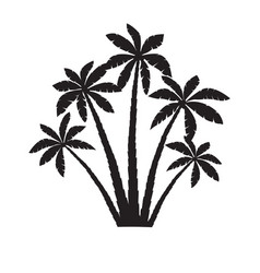 palm trees silhouettes isolated vector image