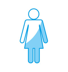 Pictogram woman design vector