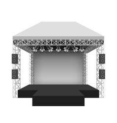 Podium concert stage vector