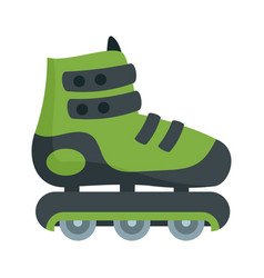 Protected inline skates icon flat style vector