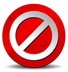 red road sign stop sign clip-art on white vector image