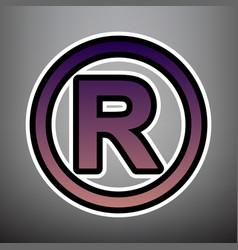 Registered trademark sign violet gradient vector