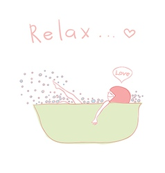 relax vector image