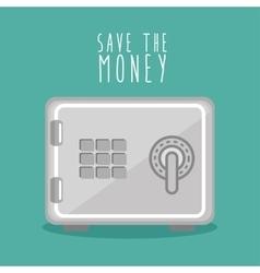 Save the money box design icon vector