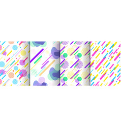 set abstract seamless background available vector image