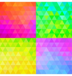 Set of colorful geometric patterns vector