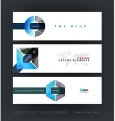 set of modern horizontal website banners vector image