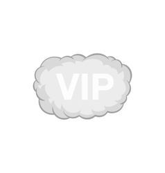 Sign VIP in the cloud icon black monochrome style vector image