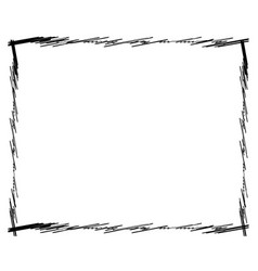 sketch scribble rectangular photo picture frame vector image
