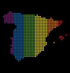 spectrum dot lgbt spain map vector image