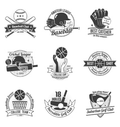 Sport Label Set vector image