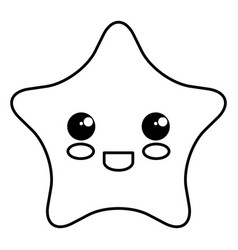 star light kawaii character vector image