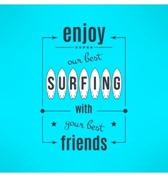 Surfing lesson poster with lettering design vector