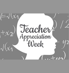 Teacher appreciation week holiday concept vector
